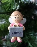 Hanging Fairy Ornament | Personalised | Christmas Decorations